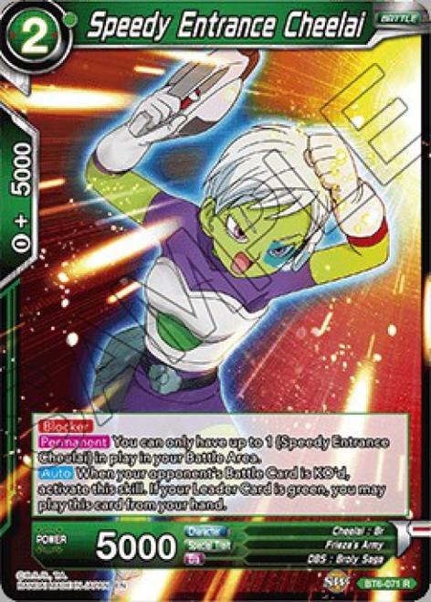 Dragon Ball Super Collectible Card Game Destroyer Kings Rare Speedy Entrance Cheelai BT6-071