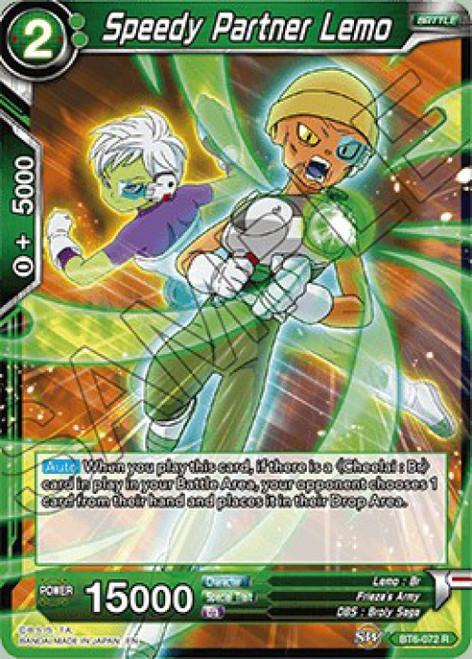 Dragon Ball Super Collectible Card Game Destroyer Kings Rare Speedy Partner Lemo BT6-072