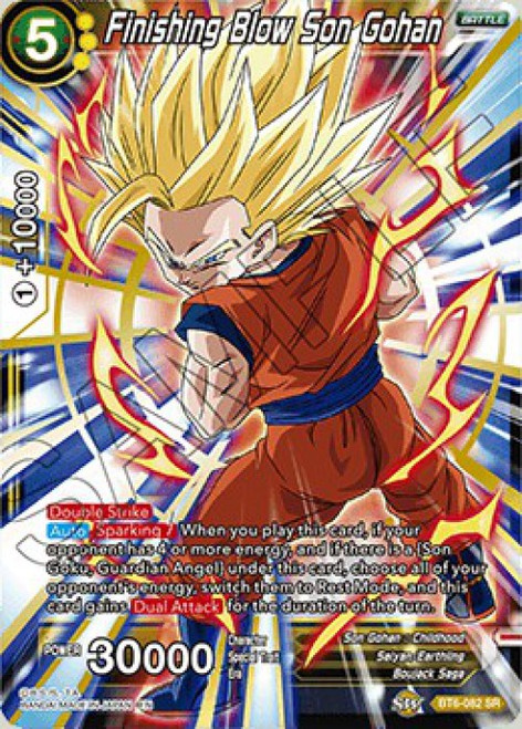 Dragon Ball Super Collectible Card Game Destroyer Kings Super Rare Finishing Blow Son Gohan BT6-082