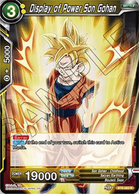 Dragon Ball Super Collectible Card Game Destroyer Kings Rare Display of Power Son Gohan BT6-083