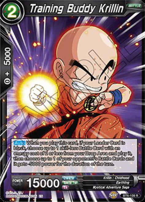 Dragon Ball Super Collectible Card Game Destroyer Kings Rare Training Buddy Krillin BT6-109