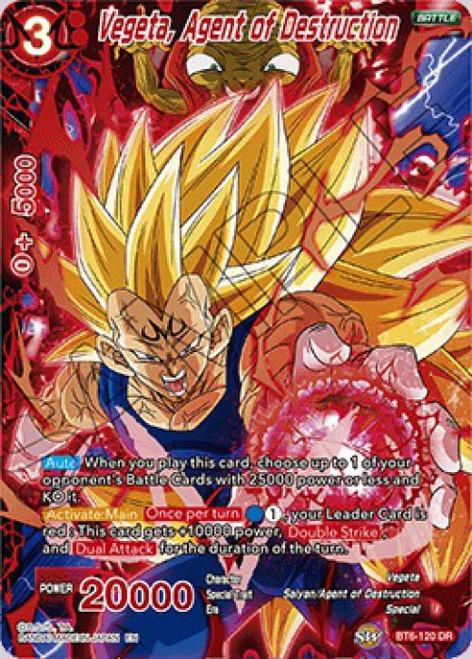Dragon Ball Super Collectible Card Game Destroyer Kings Destruction Rare Vegeta, Agent of Destruction BT6-120
