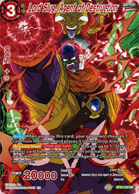 Dragon Ball Super Collectible Card Game Destroyer Kings Destruction Rare Lord Slug, Agent of Destruction BT6-122