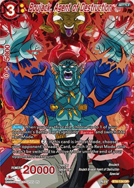 Dragon Ball Super Collectible Card Game Destroyer Kings Destruction Rare Boujack, Agent of Destruction BT6-124