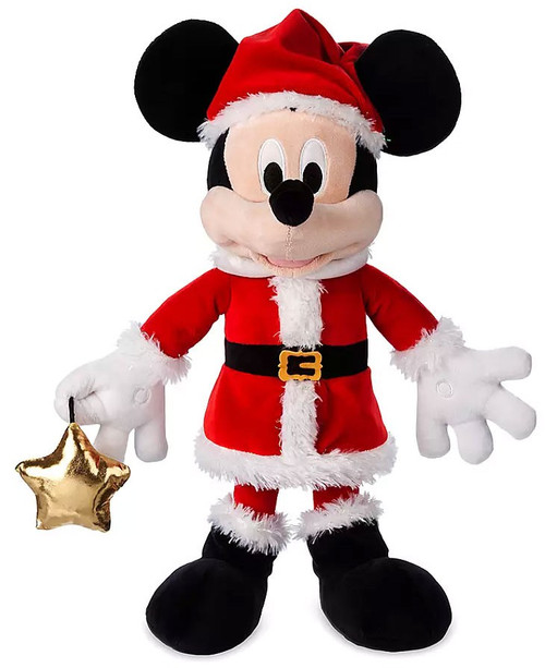 Disney 2019 Holiday Santa Mickey Mouse Exclusive 17-Inch Plush