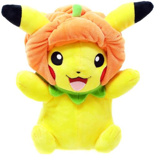 Pokemon Pikachu 9-Inch Plush [Pumpkin Hat]
