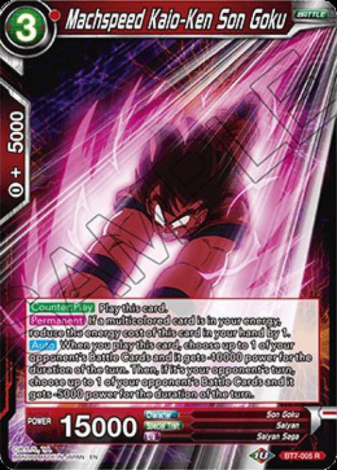Dragon Ball Super Collectible Card Game Assault of the Saiyans Rare Machspeed Kaio-Ken Son Goku BT7-005