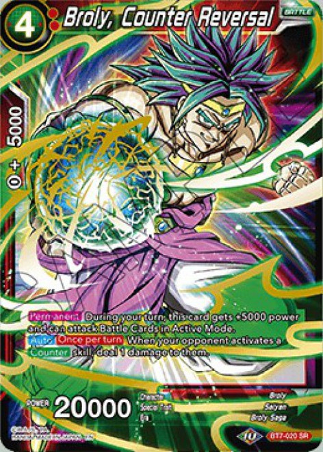 Dragon Ball Super Collectible Card Game Assault of the Saiyans Super Rare Broly, Counter Reversal BT7-020