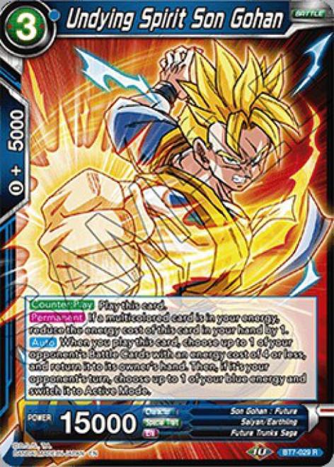 Dragon Ball Super Collectible Card Game Assault of the Saiyans Rare Undying Spirit Son Gohan BT7-029