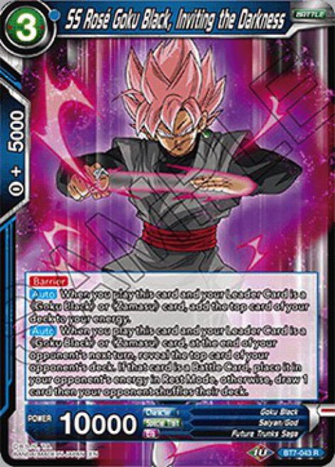 Dragon Ball Super Collectible Card Game Assault of the Saiyans Rare SS Rose Goku Black, Inviting the Darkness BT7-043