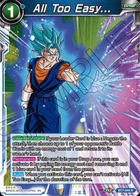 Dragon Ball Super Collectible Card Game Assault of the Saiyans Rare All Too Easy... BT7-048