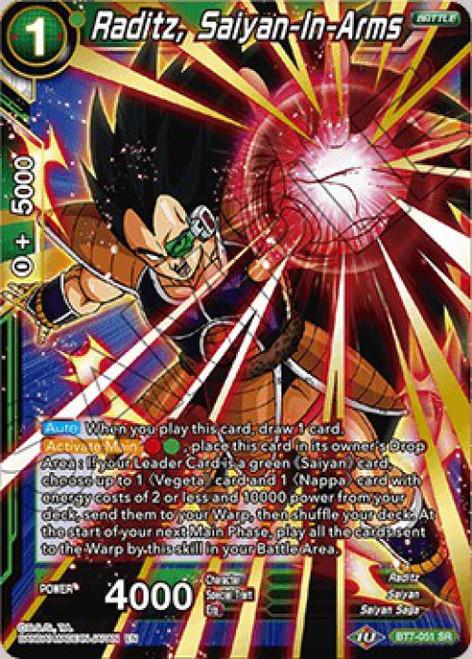 Dragon Ball Super Collectible Card Game Assault of the Saiyans Super Rare Raditz, Saiyan-In-Arms BT7-051