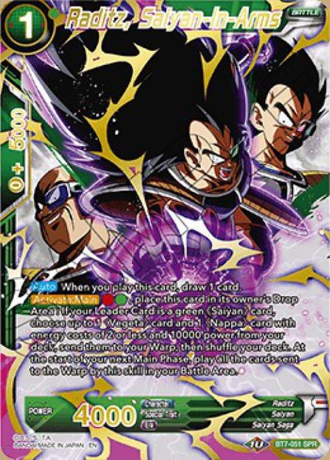 Dragon Ball Super Collectible Card Game Assault of the Saiyans Special Rare Raditz, Saiyan-In-Arms BT7-051_SPR