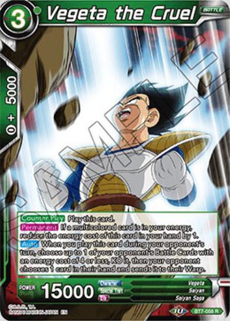 Dragon Ball Super Collectible Card Game Assault of the Saiyans Rare Vegeta the Cruel BT7-058