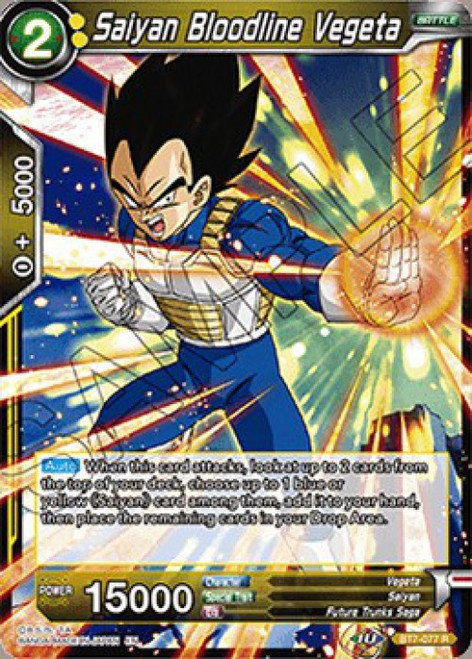 Dragon Ball Super Collectible Card Game Assault of the Saiyans Rare Saiyan Bloodline Vegeta BT7-077