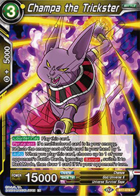 Dragon Ball Super Collectible Card Game Assault of the Saiyans Rare Champa the Trickster BT7-078