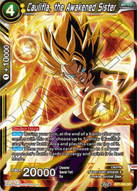 Dragon Ball Super Collectible Card Game Assault of the Saiyans Super Rare Caulifla, the Awakened Sister BT7-083