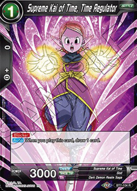 Dragon Ball Super Collectible Card Game Assault of the Saiyans Rare Supreme Kai of Time, Time Regulator BT7-104