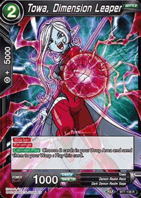 Dragon Ball Super Collectible Card Game Assault of the Saiyans Rare Towa, Dimension Leaper BT7-106