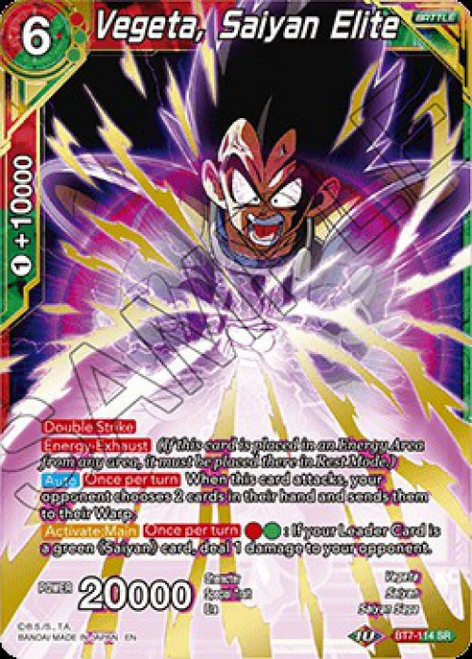 Dragon Ball Super Collectible Card Game Assault of the Saiyans Super Rare Vegeta, Saiyan Elite BT7-114