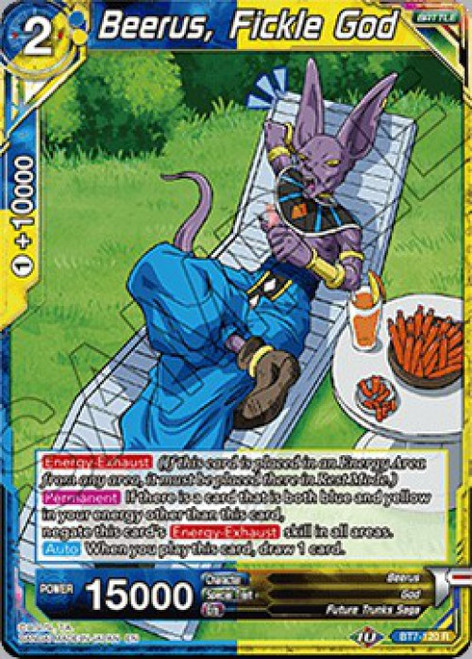 Dragon Ball Super Collectible Card Game Assault of the Saiyans Rare Beerus, Fickle God BT7-120