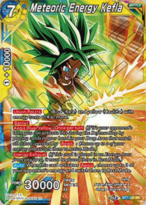 Dragon Ball Super Collectible Card Game Assault of the Saiyans Super Rare Meteoric Energy Kefla BT7-121