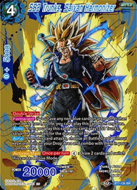 Dragon Ball Super Collectible Card Game Assault of the Saiyans Infinite Saiyan Rares SS3 Trunks, Saiyan Harmonizer BT7-126