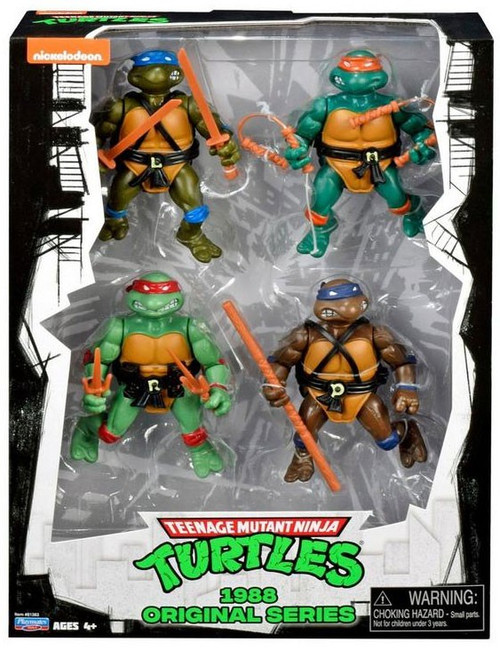 Teenage Mutant Ninja Turtles Nickelodeon 1988 Original Series Exclusive Action FIgure 4-Pack