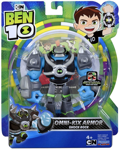 Ben 10 Omni-Kix Armor Shock Rock Action Figure