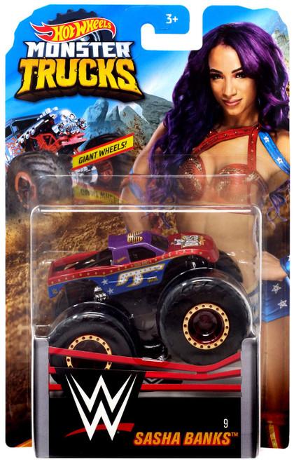 Hot Wheels Monster Trucks WWE Sasha Banks Diecast Car