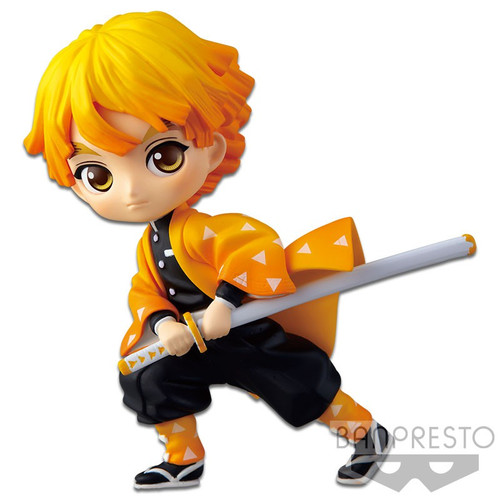 Demon Slayer: Kimetsu no Yaiba Q Posket Zenitsu Agatsuma 2.8-Inch Collectible PVC Figure #01 [Version 1]