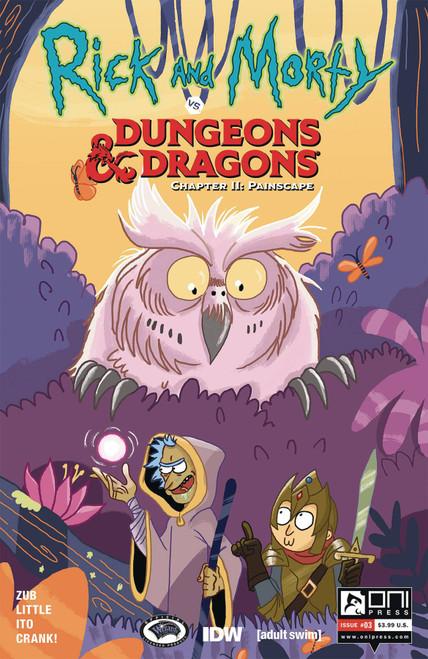 Oni Press Rick & Morty Vs. Dungeons & Dragons II #3 Comic Book [Gina Allant Cover B]