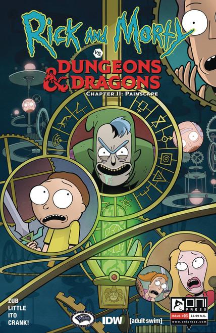 Oni Press Rick & Morty Vs. Dungeons & Dragons II #3 Comic Book