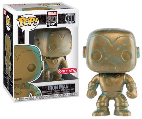 Funko 80th Anniversary POP! Marvel Iron Man Exclusive Vinyl Figure #498 [Patina, Damaged Package]