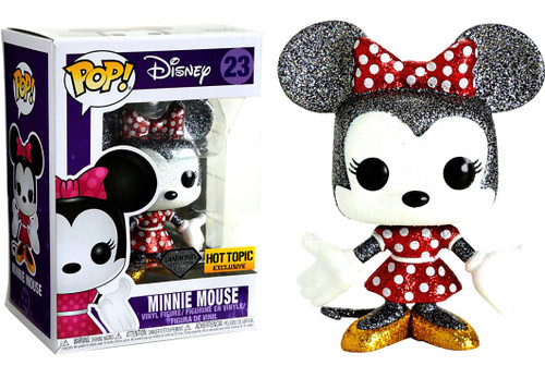 Funko POP! Disney Minnie Mouse Exclusive Vinyl Figure #23 [Diamond Collection, Damaged Package]