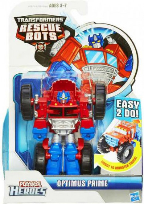 Transformers Playskool Heroes Rescue Bots Optimus Prime Action Figure [Monster Truck, Damaged Package]