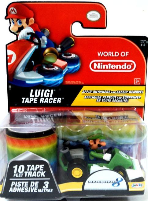 World of Nintendo Mario Kart 8 Tape Racer Luigi Figure [Damaged Package]