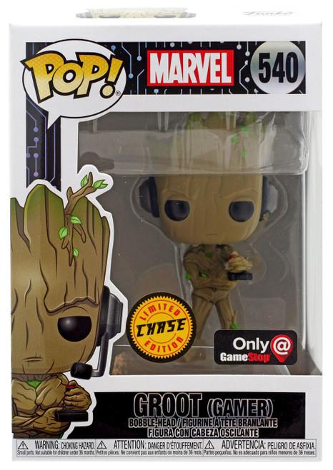 Funko POP! Marvel Groot Exclusive Vinyl Bobble Head #540 [Gamer, Chase]