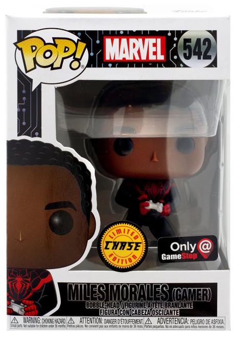 Funko POP! Marvel Miles Morales Exclusive Vinyl Bobble Head #542 [Gamer, Chase]
