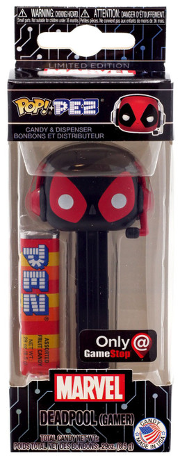 Funko Marvel POP! PEZ Deadpool Exclusive Candy Dispenser [Gamer, Black & Red]