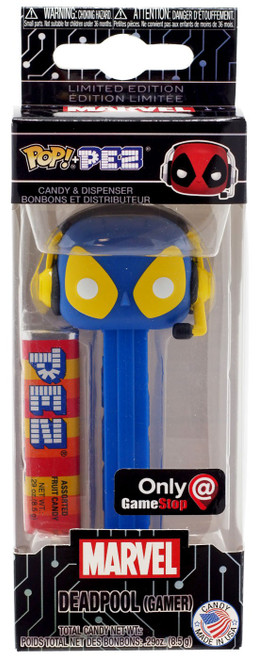 Funko Marvel POP! PEZ Deadpool Exclusive Candy Dispenser [Gamer, Blue & Yellow]