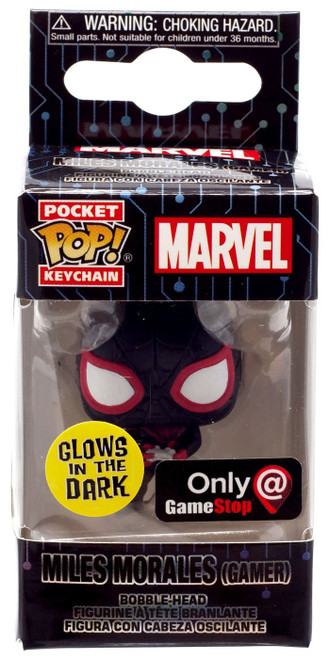 Funko POP! Marvel Miles Morales Exclusive Keychain [Gamer, Glow-in-the-Dark]