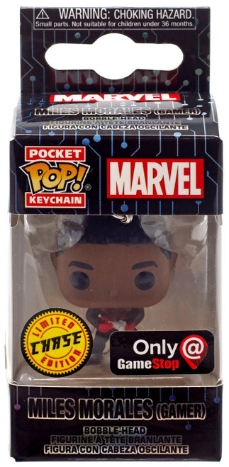 Funko POP! Marvel Miles Morales Exclusive Keychain [Gamer, Chase]