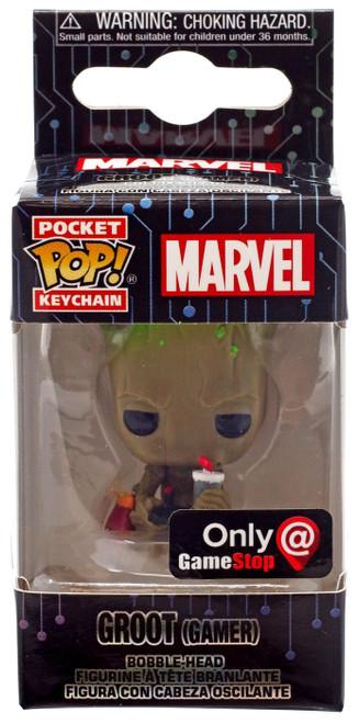 Funko POP! Marvel Groot Exclusive Keychain [Gamer, Sitting]