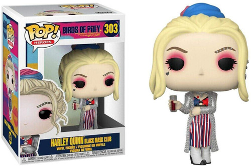 Funko DC Birds of Prey POP! Heroes Harley Quinn Vinyl Figure #303 [Black Mask Club]