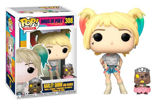 Funko DC Birds of Prey POP! Heroes Harley Quinn with Beaver Vinyl Figure & Buddy