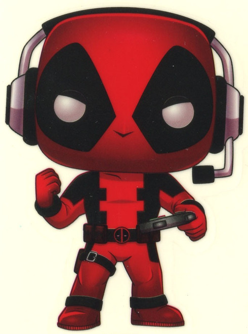 Funko Marvel Deadpool Exclusive Sticker [Gamer, Glow-in-the-Dark]