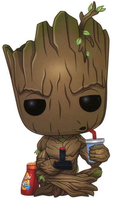 Funko Marvel Groot Exclusive Sticker [Gamer, Sitting]