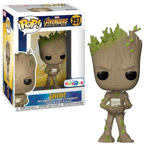 Funko Marvel Universe Avengers Infinity War POP! Marvel Groot Exclusive Vinyl Figure #297 [with Video Game, Damaged Package]
