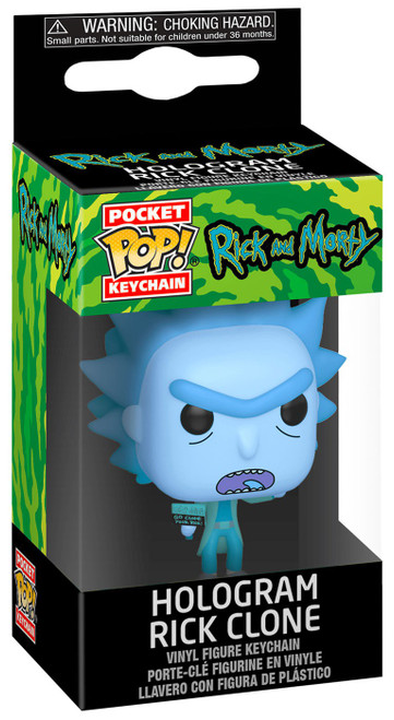Funko Rick & Morty Pocket POP! Hologram Rick Clone Keychain
